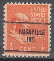 USA Precancel Vorausentwertungen Preos, Locals Indiana, Rushville 704 - Vorausentwertungen