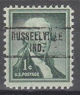 USA Precancel Vorausentwertungen Preos, Locals Indiana, Russellville 734 - Vorausentwertungen
