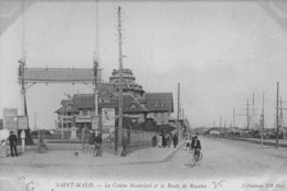 SAINT-MALO - Le Casino Et La Route De Rocabey - Cycliste - Programme Affiché - Saint Malo