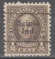 USA Precancel Vorausentwertungen Preos, Locals Indiana, Scipio 653-702 - Precancels