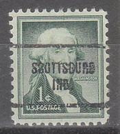 USA Precancel Vorausentwertungen Preos, Locals Indiana, Scottsburg 704 - Precancels