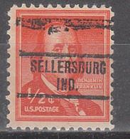 USA Precancel Vorausentwertungen Preos, Locals Indiana, Sellersburg 734 - Vorausentwertungen