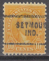 USA Precancel Vorausentwertungen Preos, Locals Indiana, Seymor 642-703 - Vorausentwertungen