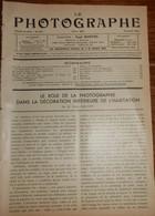 Le Photographe. 20 Avril 1934. N° 360. - 1900 - 1949