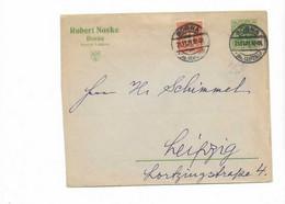 Ganzsachenbrief Aus Borna 1921 - Storia Postale