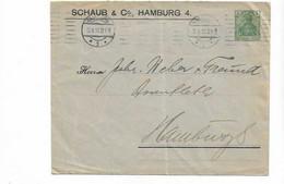 Ganzsachenbrief Aus Hamburg 1910 - Cartas