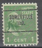 USA Precancel Vorausentwertungen Preos, Locals Indiana, Somerville 704 - Vorausentwertungen