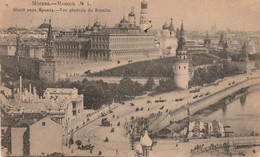 X10- MOSCOU  RUSSIE VUE GENERALE DU KREMLIN N° 1 - ( OBLITERATION DE 1916 - 2 SCANS ) - Russland
