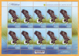 "2021 Moldova Moldavie Moldau Romania  Sheet  Lower Prut ""Biosphere Reserve"" Birds, Fauna Mint - Moldavië"