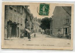 23 AUBUSSON Carte RARE La Route De Clermont CAFE Restaurant Lavaud Anim 1909 - Edit HM 93     / D18  2021 - Aubusson