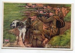 MILITARIA  En Guerre Chien Gardien Des TRanchées Anglaises  Bon Point Patriotique Souvenir Guerre 1914-1915  D18 2021 - Guerra 1914-18