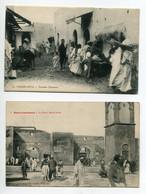 MAROC CASABLANCA 2 Cartes Anim Rue Fontaine Populaire Et Porte Bab El Souk /D18  2021 - Casablanca
