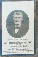 DOODPRENTJE - IVO VANDEMEULEBROECKE  (° CASTER  1850   /+ CASTER   1921 ) (dp 275 ) - Overlijden