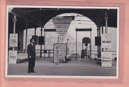 OUDE FOTO POSTKAART - ZWITSERLAND -       LUGANO - IMBARCADERO SUL LAGO - 1950'S - TI Ticino
