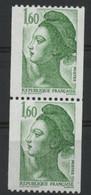 N° 2378 Roulette Type Liberté Variété Trident Sur Le Front. Neuf Sans Charnière ** MNH. TB - Varieties: 1980-89 Mint/hinged