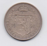 CYPRUS 1921 18 PIASTRES SILVER COIN F - Chipre