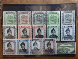 EX COLONIE INGLESI - BRUNEI Anni '40/'50 - 15 Valori Nuovi */** + Spese Postali - Brunei (...-1984)