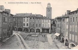 30 - N°72983 - BAGNOLS-SUR-CEZE - Place Du Marché - Bagnols-sur-Cèze