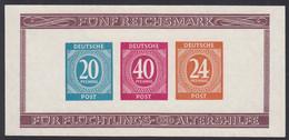 Zona AAS, 1947 Michel. Block 12 B, MNH. Sin Dentar. - Zone AAS