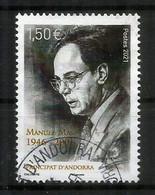 2021.Manuel Mas (1946-2001) Ministre Affaires étrangères D'Andorre.St Siège & Irlande,timbre Oblitéré, 1 ère Qualité - Usati