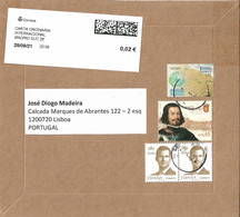Spain Registered Cover To Portugal Irregular Use Portuguese Stamp - 2011-... Lettere