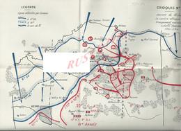 MILITARIA PLAN 33,5X23 ORIGINAUX MILITAIRE JOURNÉE 10 JUIN LA CONTRE ATTAQUE GROUPEMENT CUIRASSÉ IIe ARMÉE X IVe ARMÉE - 1939-45