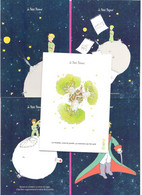 CPM Illustrée St Exupéry Le Petit PRINCE Et Fusuée Ariane Lot De 9 Cartes Différentes - Contes, Fables & Légendes