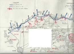 MILITARIA PLAN 34X22,5 ORIGINAUX MILITAIRE JOURNÉE DU 9 JUIN LA CONTRE ATTAQUE DU GROUPEMENT IIe ARMÉE ECT : - 1939-45