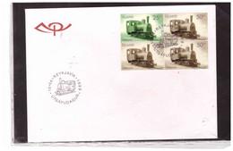 TEM15047    -   REYKJAVIK  15.4.2004 /    FDC  CAT. UNIFICATO NR. L.863 - Trains