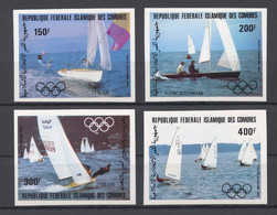 Comoros, Comores, 1983, Olympic Summer Games Los Angeles, Sailing, Sports, MNH Imperforated, Michel 686-689B - Comores (1975-...)