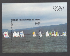 Comoros, Comores, 1983, Olympic Summer Games Los Angeles, Sailing, Sports, MNH Imperforated, Michel Block 235B - Comores (1975-...)