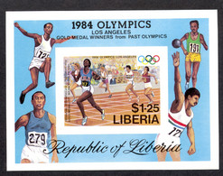 Liberia, 1984, Olympic Summer Games Los Angeles, Sports, Athletics, Running, MNH Imperforated, Michel Block 108B - Liberia