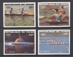 Chad, 1984, Olympic Summer Games Los Angeles, Rowing, Sports, MNH Imperforated, Michel 1056-1059B - Tchad (1960-...)