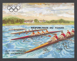 Chad, 1984, Olympic Summer Games Los Angeles, Rowing, Sports, MNH Imperforated, Michel Block 221B - Tchad (1960-...)