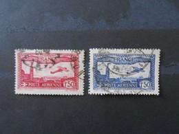 FRANCE YT PA5/6 AVION SURVOLANT MARSEILLE - 1927-1959 Afgestempeld