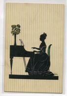 ILLUSTRATEUR Manni GROSZE Série 5714  Sihouette Ombromanie Musicienne à Son Piano       D22 2020 - Grosze, Manni