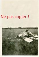 PHOTO ALLEMANDE - AVION ABATTU A BEAUMONT - GUERRE 1914 1918 - 1914-18