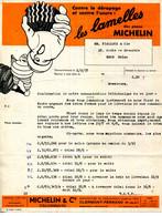 """FACTURE.63.CLERMONT FERRAND.LES LAMELLES DES PNEUS """" MICHELIN """" - Automovilismo"""