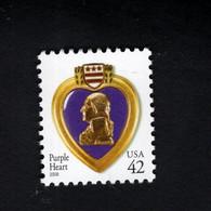 1358648779 2008 SCOTT 4263 (XX)  POSTFRIS MINT NEVER HINGED EINWANDFREI PURPLE HEART - Ungebraucht
