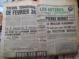 JOURNAL LES LETTRES FRANCAISES Le 6 Fevrier 1934 Pierre Benoit Victor Hugo 14 FEVRIER 1952 - Desde 1950