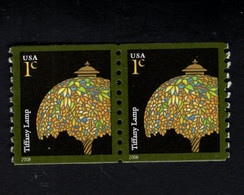 1358655136 2008 SCOTT  3758A (**) POSTFRIS MINT NEVER HINGED EINWANDFREI - TIFFANY LAMP PAIR - Ungebraucht