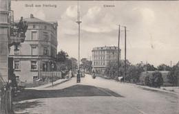 A67) GRUß Aus HARBURG - ELBTEICH - Straße Mit Tollen Haus Details U. S. KNOCKE Gasthof Bzw. Geschäft 19.9.1911 - Harburg