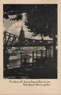 Frankfurt Main - Eiserner Steg Und Dom - 1940 - Frankfurt A. Main