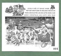 Joyeux Noël Et Bonne Année 2002 Numéroté, Issu Du Livre Philathélique - Hojas Blanco & Negro