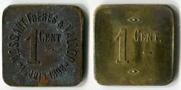 N93-0673 - Monnaie De Nécessité - Bourg-de-Péage - Mossant Frères & Vallon - 1er Juin 1898 - 1 Centime - Noodgeld