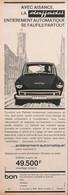 Publicité Papier VOITURE DAF DAFFODIL  1965 PIP1058924 - Werbung