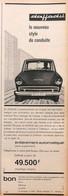 Publicité Papier VOITURE DAF DAFFODIL  1965 PIP1059010 - Werbung