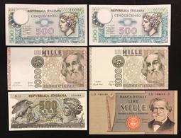500 1000 Lire Lotto 6 Esmplari Spl/q.fds Fds LOTTO 2633 - 2000 Lire