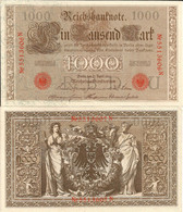 Germany / German Reich 1000 Mark 1910 P-44b(5) Underprint Letter U Serie N UNC - 1000 Mark
