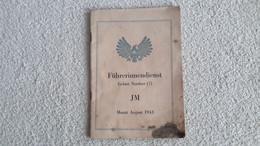 Heft Führerinnendienst Gebiet Nordsee JM August 1943 HJ BDM - Ohne Zuordnung
